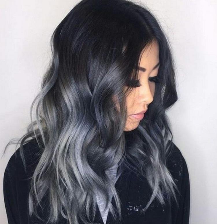Coloration cheveux gris pour femme